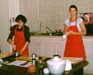 Home Gourmet staff demonstrate cooking techniques